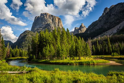 Squaretop Mountain, Green River, and the Bottle, Wind River Range, Wyoming