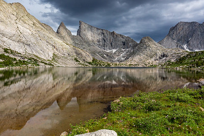 Deep Lake and East Temple Peak, Bridger Wilderness, Wind River Range, Wyoming