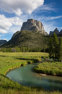 Squaretop Mountain and the Meandering Path of the Upper Green River, Bridger Wilderness, Wyoming