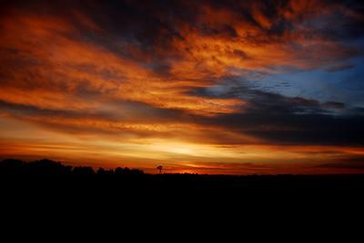 Kansas Windmill at Sunrise - Photo Taken: September 29, 2007