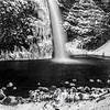126  G Icy Horsetail Falls Sharp BW