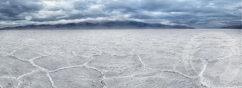 Badwater salt polygons