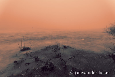Frozen Pond and mist, Celery Farm, Allendale, NJ