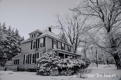 Spooky Snow B&W