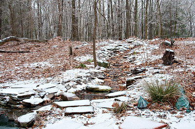 Stream flowing along even with the freezing temps.