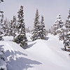 Deep snowcover in early May near Brainard Lake; Colorado Indian Peaks Wilderness.