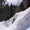 Spring snowshoeing on the Emerald Lake trail; Rocky Mountain National Park, Colorado.