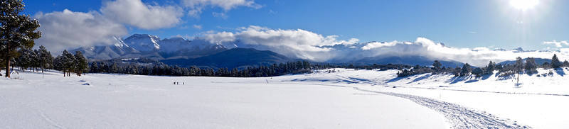 Cross-country skiing at Top of The Pines, near Ridgway, CO.