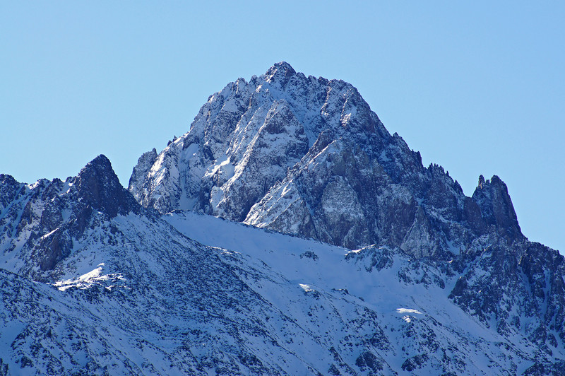 The rugged north face of Mount Sneffels in the morning light, Colorado San Juan Range.