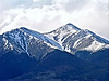 Late spring snow dominates the Mt. Shavano landscape; Colorado Sawatch Range.