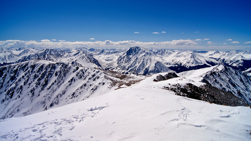 La Plata Peak, viewed in early March from the summit of Mt. Elbert.  Colorado Sawatch Range.