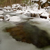 Almost the last of the open water on Smart's Brook in Campton, NH<br /> Dec 2009
