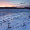 Jan 2010 - Squamscott and Exeter rivers converge. <br /> Not the best photo I've ever done.  It lacks focus and balance, to me.  but I like the reflected colors in the river ice.