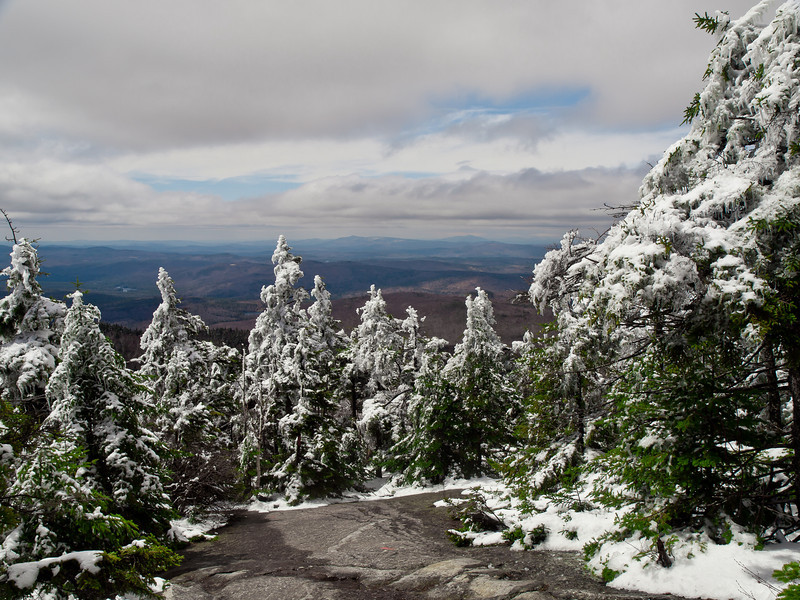 West ridge trail at Mt. Cardigan after a spring snow storm.  Believe it or not, it's April 19.