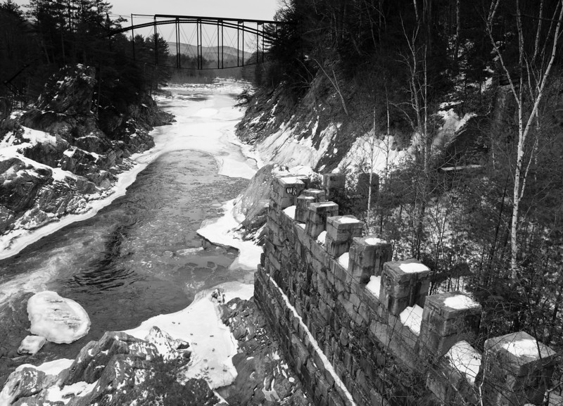 River Remnants<br /> extant bridge & mill building at the Pemigewasset River