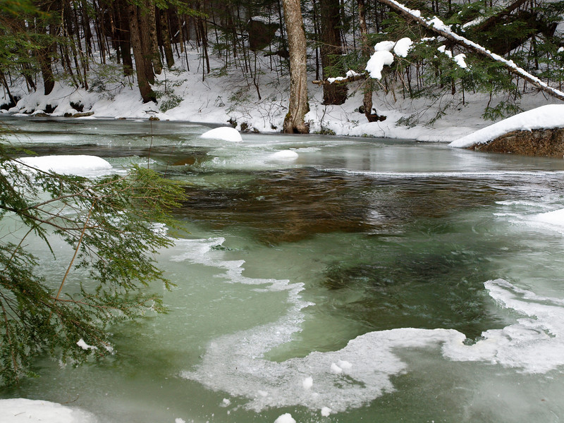 Smart's Brook, Campton, NH<br /> December 2009<br /> <br /> I have no idea what makes the ice green, only that it's difficult to capture in a photograph.