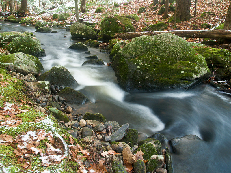 Tucker Brook, Milford NH, December 2009<br /> <br /> Tripod of course as it's a 2-3 second exposure.