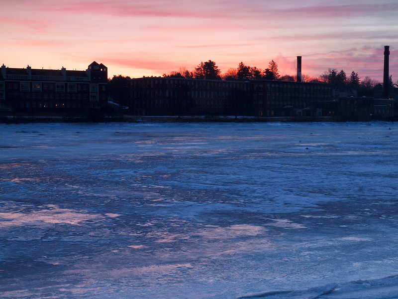 Intense color in a sunrise over the spot where the Exeter & Squamscott rivers converge.<br /> Jan 2010