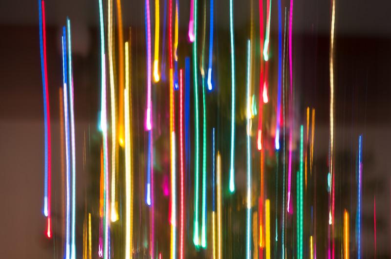Christmas tree lights w/slow shutter speed