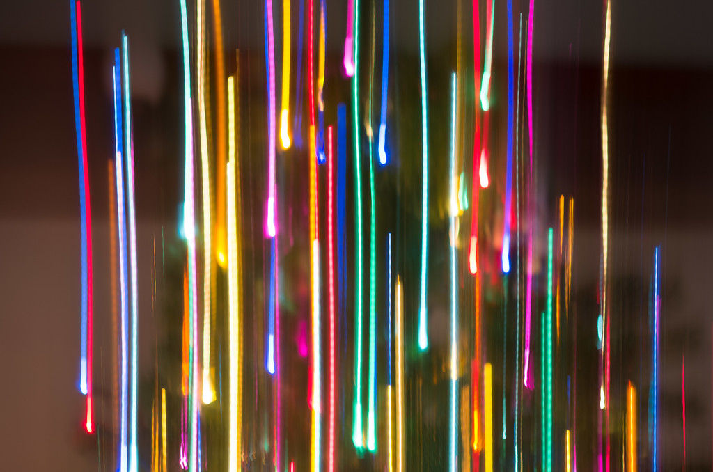 Christmas tree lights w/slow shutter speed
