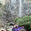 At Bridal Veil Falls, can you tell it was a little chilly?