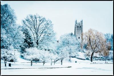 Amasa Stone Chapel in Winter