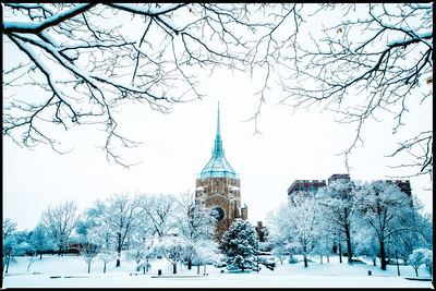 Euclid Epworth Church Wade Lagoon in Winter