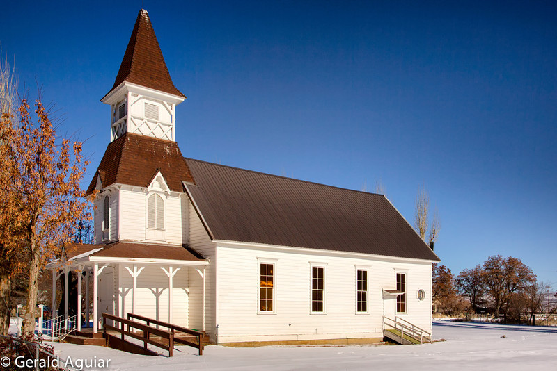 Fort Bidwell is located about 30 miles north of Cedarville, CA.  It lies at the northern tip of the Surprise Valley.  This church was built in 1885 and still has services each Sunday.
