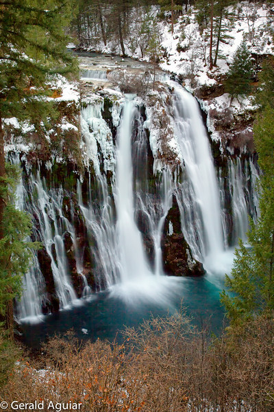 This is the color version of the previous photo of Burney Falls.  Still a lot of snow in the area.