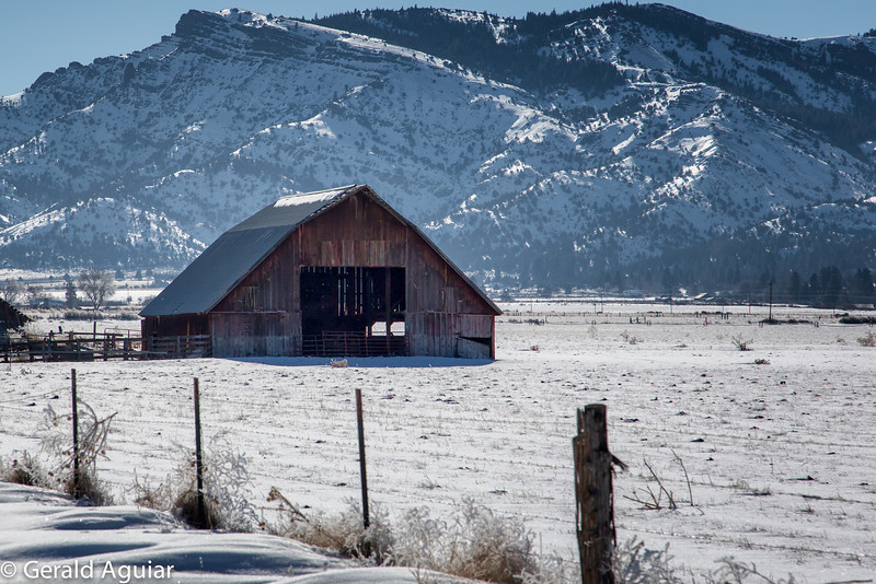 This barn was located about 15 miles north of Cedarville.  The mid day temperature when this photo was taken approached 15 degrees Fahrenheit.
