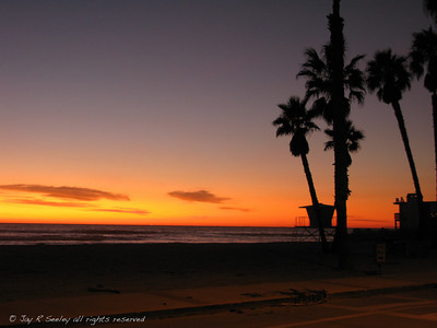 Silhouettes on the strand, Oceanside, Ca