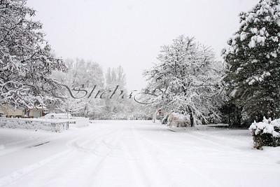 Snow, beautiful snow...my street.