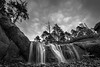 hug point water fall b&w-7775