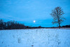 Prairie setting moon