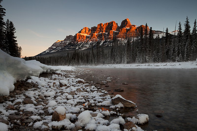 Castle Mountain and Bow River, Banff, Alberta