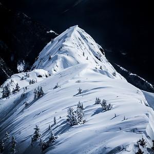 The Ridge - this ridge overlooks Vermilion Lakes and Banff on Mt. Norquay.