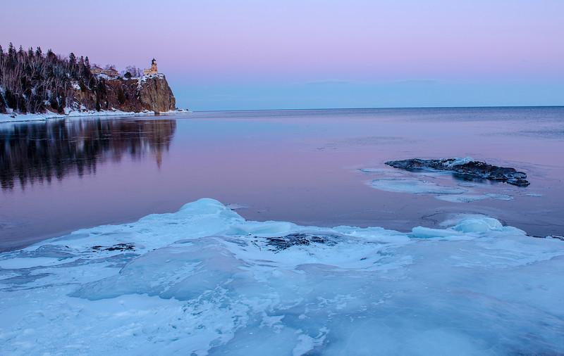 Lake Superior twilight glow