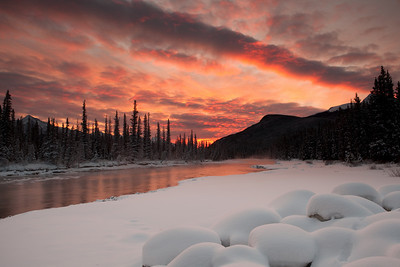 Sunrise at Bow River, Banff Alberta
