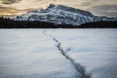 'Winter Two Jack' - Fresh snow made for a great morning at Two Jack Lake, I needed to clear my head and be outside for a few hours before getting back to the studio. It was a little spooky at times as the ice is always shifting. One particular cracking sound got my adrenaline racing! #banff