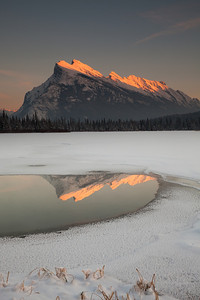 Mount Rundle at sunset, Vermilion Lakes, Banff