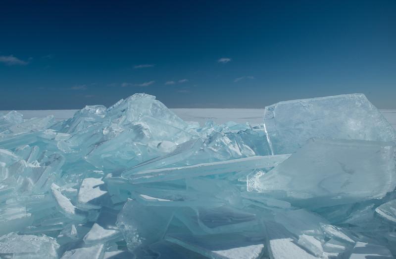 Stacking ice on Lake Superior
