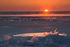 Ice shards at sunrise