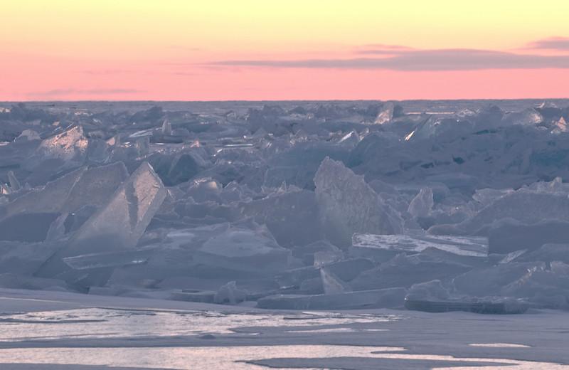 MNWN-9111: Ice Shards on Lake Superior: Photographed at Stoney Point Lake Superior