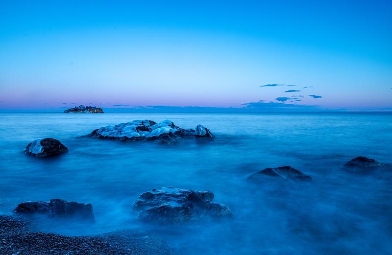Twilight glow on Lake Superior