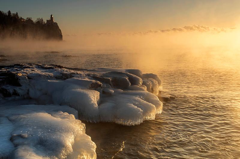 Sea Smoke at the Split Rock State Park