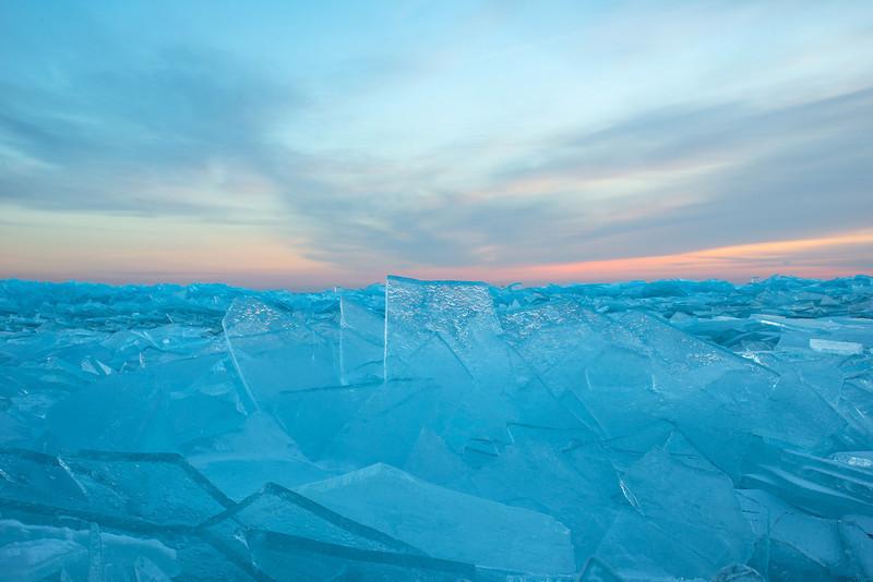 Ice shards on Lake Superior