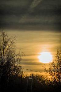 Sunrise over Grove Wood