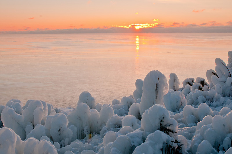 MNWN-11152: Sunrise at Chrystal Bay ice fields