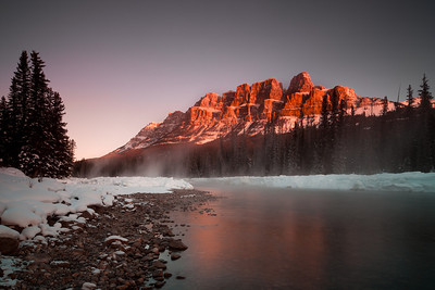 Sunrise at Castle Mountain, Banff