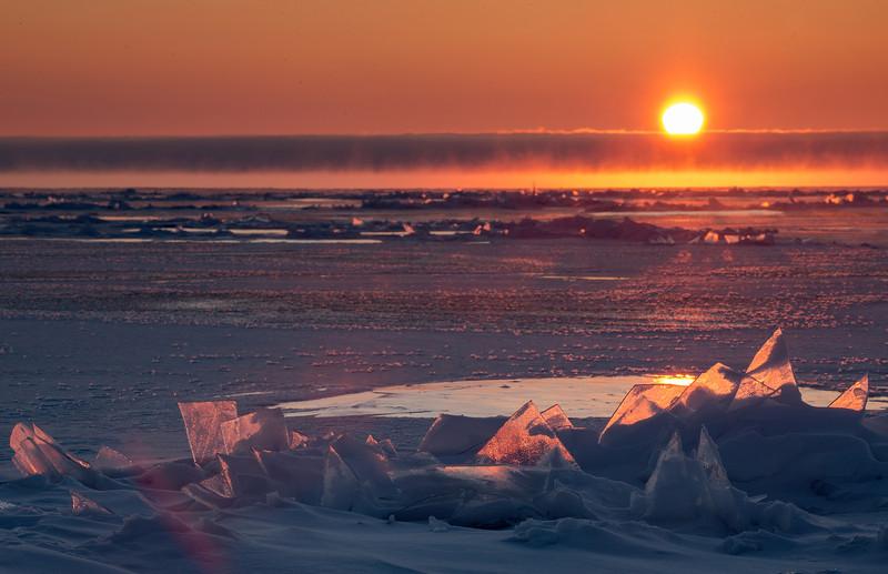 Lake Superior winter sunrise